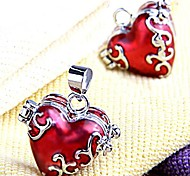 Red Heart Metal Locket Pendants