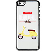 La vida es bella Patrón Hard Case para el iPhone aluminoso 5C