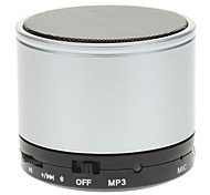 Bluetooth Mini Speaker with Mic,TF Card Supported(Silver)