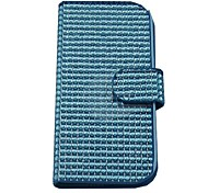 For Samsung Galaxy Case Wallet / Card Holder / Rhinestone / Flip / Magnetic Case Full Body Case Solid Color PU Leather Samsung S4