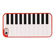 Stylish Piano Key Pattern Plastic + TPU Back Case for iPhone 5/5s