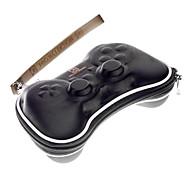 Wireless Controller duro funda protectora con correa para PS3 (Negro)