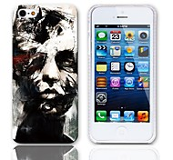 Caso duro del diseño de los Bustos con paquete de 3 protectores de pantalla para iPhone 5/5S