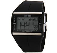 Unisex Multi-Funcional retângulo Dial Rubber Band Digital relógio de pulso (cores sortidas)