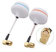 5.8G Right Angle SMA Male Antenna Gains for FPV (1 pair)