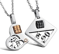Fashion Love Password Stainless Steel Couple's Necklace(2 PCS)