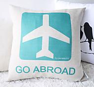Elegante Frische Blau und Weiß Go Abroad Dekorative Kissenbezug