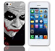 JOKER Design Hard Case with 3-Pack Screen Protectors for iPhone 5/5S
