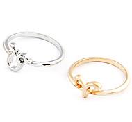 Fashion Princess Lulu Damen Gold-und Silber-Legierung Midi Ringe (4 Stück)