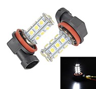 Merdia H11 18 SMD 5050 LED Wit voor auto mistlamp (Pair / 12V)