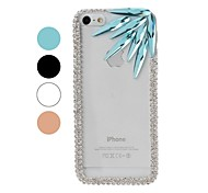 DIY Chain Frame with Rhinestone and Colorful Irregular Diamond Pattern Plastic Hard Case for iPhone 5/5S