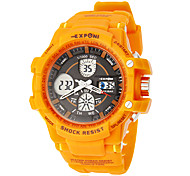 Unisex Multi-Function Analog-Digital Rubber Band Outdoor Sports Wrist Watch (Assorted Colors)