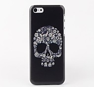 White Skull Hard Back Case for iPhone 5C