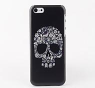 Case White Skull arrière dur pour iPhone 5C