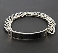 titanio pulsera de acero de plata de eruner®men