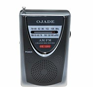 OJADE OE-1201 FM/AM Radio Receiver - Black