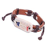 Z&X®  Primitive Tribe 24cm Men's Leather Wrap Bracelet(1 Pc)