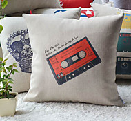 Graffito Steam rock' n' roll Style Radio Tape Decorative Pillow Cover