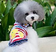 Летние Симпатичные Куры Pet Цветы Жилет для Собаки (разных цветов, размеров)