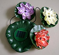 Solar Powered LED Lotus Light 2V