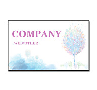 200pcs Personalized 2 Sides Printed Matte Film Tree Pattern Business Card