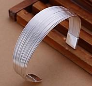 Brazalete 6.7cm Moda Mujer Silver Plated Brass (1 PC)