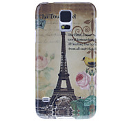 For Samsung Galaxy Case Pattern Case Back Cover Case Eiffel Tower PC Samsung S5