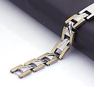 Персональный подарок Мужские украшения из нержавеющей стали выгравированы ID Браслеты 1.1cm Ширина