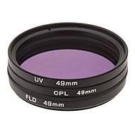 CPL + UV + Filtro FLD Ajuste para la cámara con filtro de bolsa (49 mm)