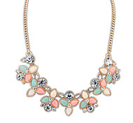 European tyle Flower Necklace(Aorted Color)