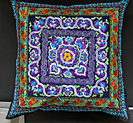 Ethnic Flower Pattern Decorative Pillow With Insert-3 Color Available