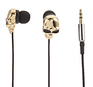 Skull-Shaped Stereo In-Ear Headphone(Gold)