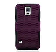 2-in-1 Net Silicone and PVC Case for Samsung Galaxy S5 i9600