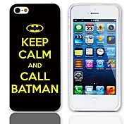 Call Batman Design Hard Case with 3-Pack Screen Protectors for iPhone 5/5S