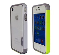 Fashion Double Color TPU Frame Bumper for iPhone4S(Yellow+White)