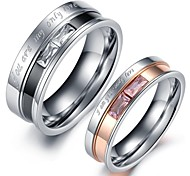 Claic Lover tainle teel Only Love Couple Ring (2 Pc)