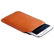 Hoge kwaliteit litchi grain Genuine Leather Pull Tab Pouch Case voor Samsung Opmerking 2/3