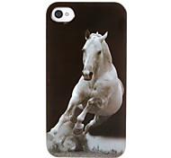 Стремительный белый конь шаблон ABS Вернуться чехол для iPhone 4/4S
