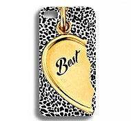 Elonbo J2L Fashion Leopard Grain Hard Case Cover voor iPhone 4/4S