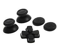Rocker Joystick Cap Shell Mushroom Caps Thumb Stick Grips and Cross Keys for PS4 (Black)