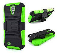 2 in 1 Robot Style PC and Sillcone Composite Case with Stand for Samsung Galaxy S4 I9500