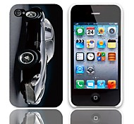 Car Pattern Hard Case with 3-Pack Screen Protectors for iPhone 4/4S