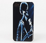 Singing Skull Protective Back Case for iPhone 4/4S