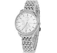 Women's Simple Round Steel Band Quartz Analog Wrist Watch