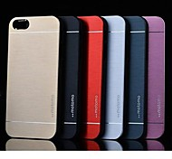 Para Funda iPhone 5 Antigolpes Funda Cubierta Trasera Funda Un Color Dura Policarbonato iPhone SE/5s/5