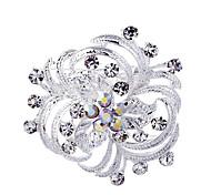 Wedding Style Elegante Versilbert Strass-Brosche (zufällige Farbe)
