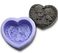 Heart Shaped Couple Silicone Fondant Cake Mold