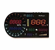 Wholesale-Universal Edition OBD pantalla grande HUD Head-up Display con / temperatura / Contador parcial tacómetro digital / combustible