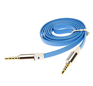 3.5mm Noodle Style Audio Jack Connection Cable(Blue 1.0m)