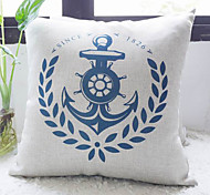 Classic Blue Anchor Calling for Peace Decorative Pillow Cover